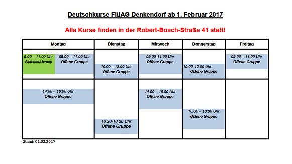 Kursplan FlüAG-Kurse ab Februar 2017